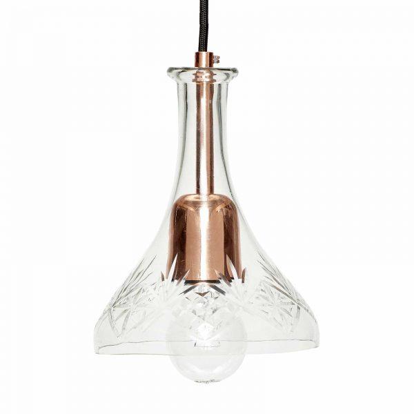 Hanglamp Retro koper glas van merk Hubsch