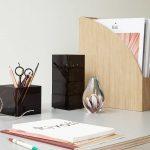 Glazen presse-papier met Zeeanemoon
