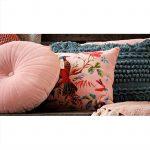 Rond kussen Noor fluweel van merk Imbarro kleur roze