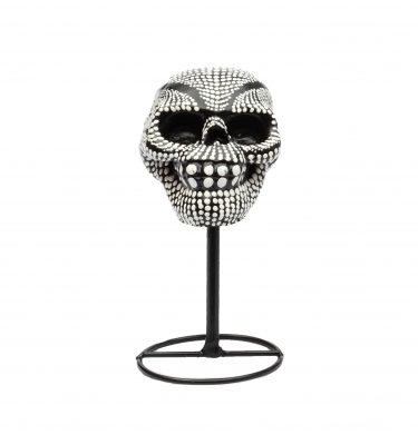 Mexican Sugar Skull zwart-wit. Een opvallend ritueel Dia de los Muertos