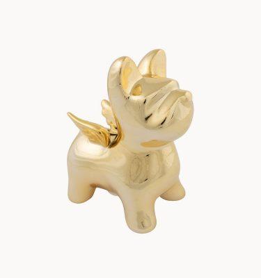 bulldog spaarpot goud XL